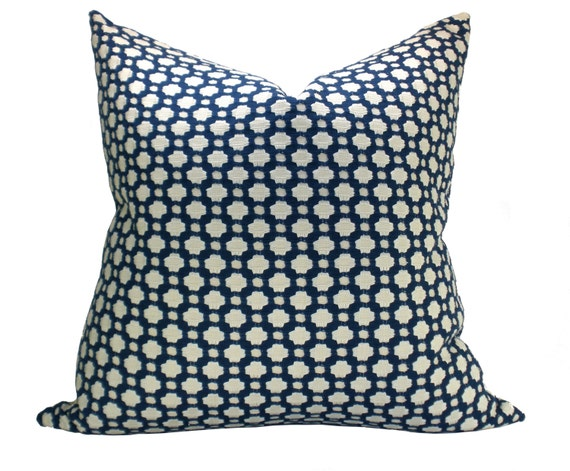 Betwixt pillow cover in Indigo/Ivory - ON BOTH SIDES