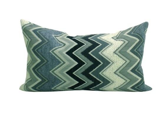 Schumacher Zenyatta Mondatta pillow cover in Noir & Blanc