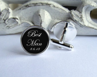 Best Man Cufflinks, Keepsake Gift For Best Man, Mens Wedding Accessory