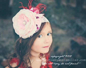 Sweet Perfection Shabby Chic Headband or Clip