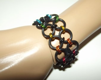 Jumbo Japanese Stretch Chainmaille Bracelet