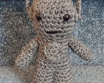 Made to order, Hand crocheted Dr. Who Doll like Cyberman Amigurumi Doll Robot