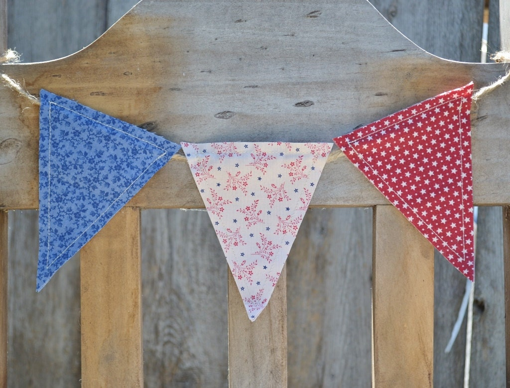 Patriotic Bunting Banner Pennant Flags Garland 4th Of