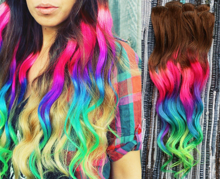17 Rainbow Hair Color Inspirations to Join the Unicorn