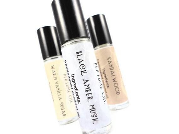 Black Amber Musk Perfume Oil - Musk, Clove, Amber - Roll On Perfume - 8mL