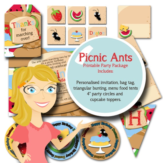 Items Similar To Picnic Ants