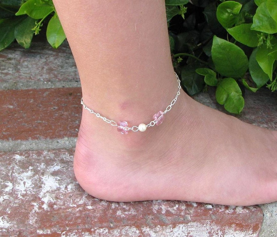 online german anklet craftsvilla for broad anklets threaded popular shopping checkdeal peach silver jewelry