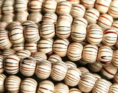 CLEARANCE- SALE - Half Price- Full Strand Dyed, Wood Beads, Round Beads about 6mm in diameter, 5mm thick, hole 2mm