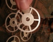 Large Steel Gears 38mm across x5-- Steampunk and Scrapbooking Supplies
