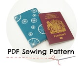 Passport Cover PDF sewing pattern, DIY Tutorial to make your own fabric passport holder, Do it yourself travel gift, sewing craft