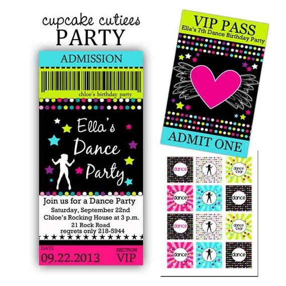 dance tickets template
