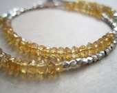 Citrine and Hill Tribe Silver Wrap Bracelet
