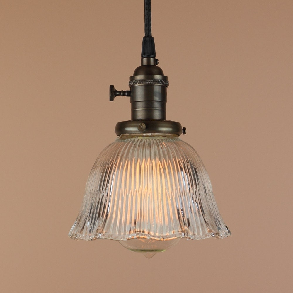 Pendant Lighting W Mini Ruffled Glass Shade Antique