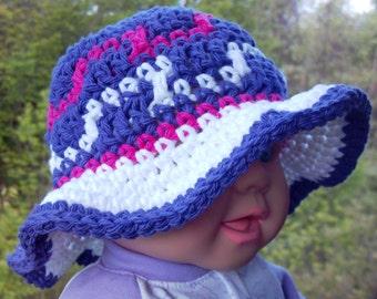 Zigzag Sun hat All sizes crochet pattern