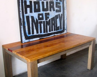 Beautiful Reclaimed Wood Dining Table. made in LA.