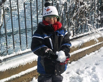 Kids Crocheted Snow man Hat