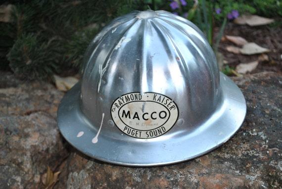 Vintage Super Lite Aluminum Hard Hat Helmet Full Brim