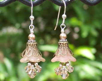 Taupe Lucite Earrings