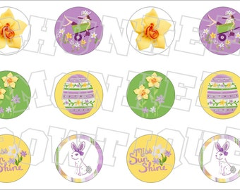 Made to Match Gymboree M2MG Daffodil Garden bottlecap image sheet