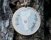 Hand Embroidered Wedding Ornament