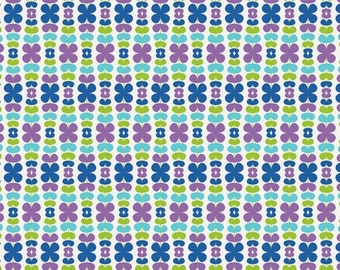 SALE - Color Me Retro - Kitchenette Blueberry by Jeni Baker from Art Gallery Fabrics