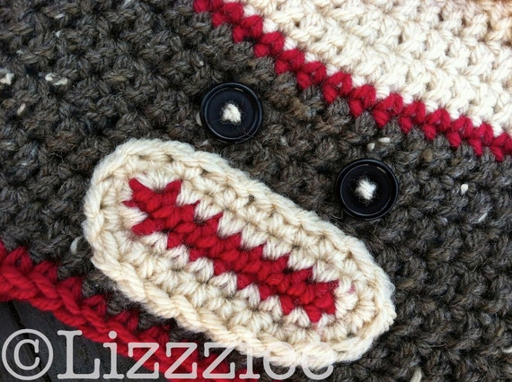 Pattern Sock Monkey Hat PDF - baby to adult crochet hat pattern - instructions for beanie, earflap, braids - Instant Digital Download