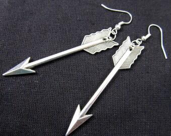 Arrow earrings Silver earrings arrow Miniblings mini Robin Hood