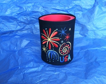 Can Cooler USA 4th of July Memorial Day Favor Cooler Cozies