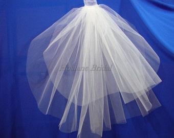 Veils, short veils, two layer veils, raw edge veils, Wedding veils