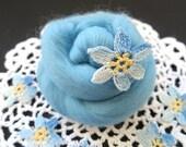 Aqua Merino Wool Roving, Wool Roving, Roving, Needle Felting Wool, wet felting wool, nuno felting wool, needle felting wool, spinning wool