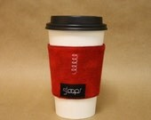 Red Flannel Reusable Coffee Cup Cozy