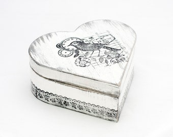 Ring Bearer Box,   Treasury  Box ,  Jewelry box ,Distressed box,  Shabby Chic Box,  ohtteam