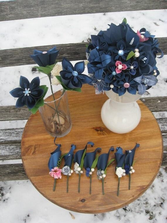 Custom Paper Flower Wedding Package.  RESERVED for Jenny. Deposit.  CUSTOM Orders WELCOME