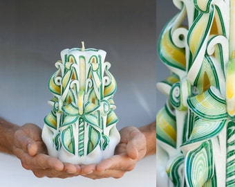Christmas gift for men - Carved candles - friendship gifts - gifts for friends - Housewarming gifts