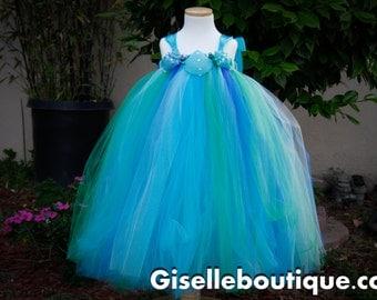 Flower girl dress. Under the Sea Tutu Dress. Beach tutu dress.baby tutu dress, toddler tutu dress, wedding, birthday, Newborn, 2t,3t,4t,5t