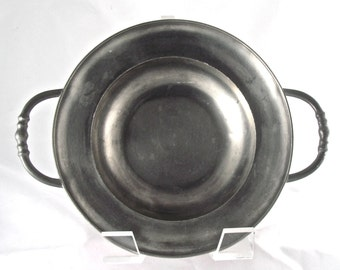 Pewter Bowl with Handles
