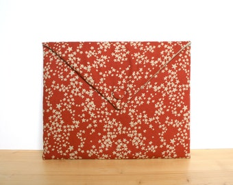 iPad case padded, iPad cover, iPad sleeve - red stars fabric