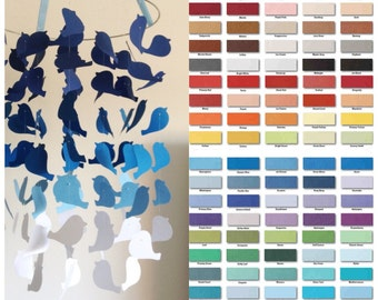 Custom Graduated Bird Mobile DIY Kit // Nursery Decor, Photo Prop, Baby Shower Gift, Mobile.
