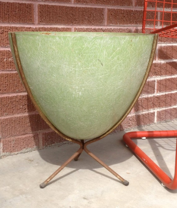Vintage 1950 S Bullet Planter Mid Century Modern By Newtooyou