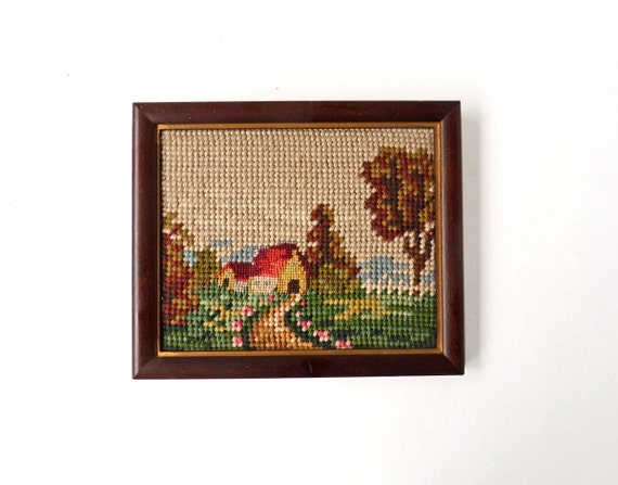 Country cottage needlepoint Home Sweet Home by ProfessorTiny