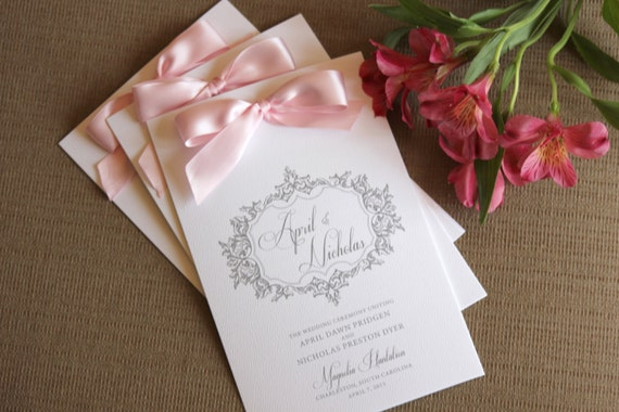 Printable Wedding Programs Diy With Ribbon Ceremony Program