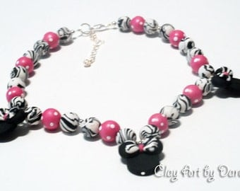 Minnie inspired boutique style necklace