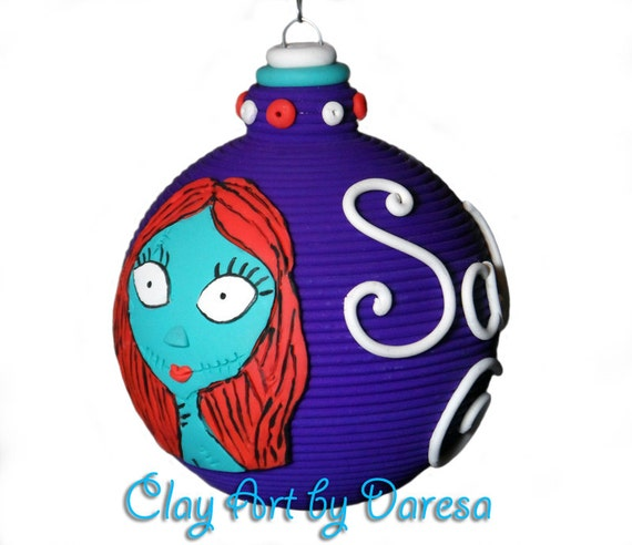 Sally  Nightmare Before Christmas polymer clay ornament