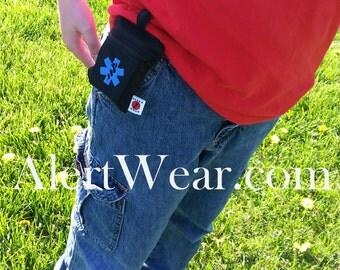 Inhaler  AuviQ Medicine Cases with Velcro Band on Back with Medical Alert by Alert Wear