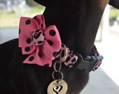 Pink Leopard Dog Collar size Extra Small