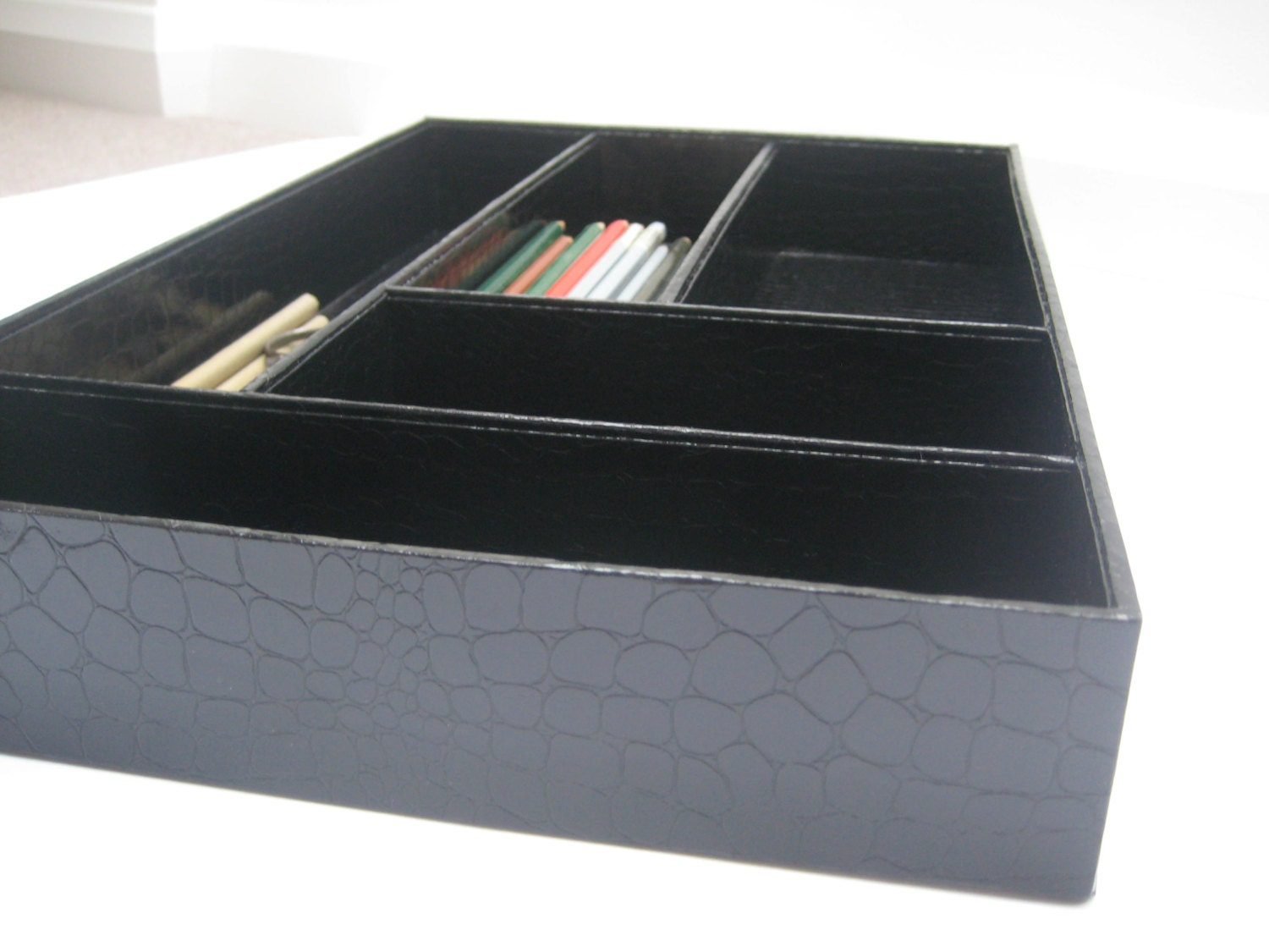 Items similar to desk drawer organizer great storage for - Drawer desk organizer ...