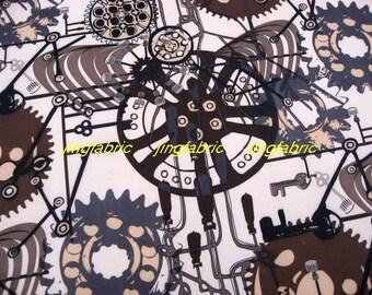 "W202 - Vinyl Waterproof Fabric - Mechanical parts  - 27""x19""(70cmX50cm)"