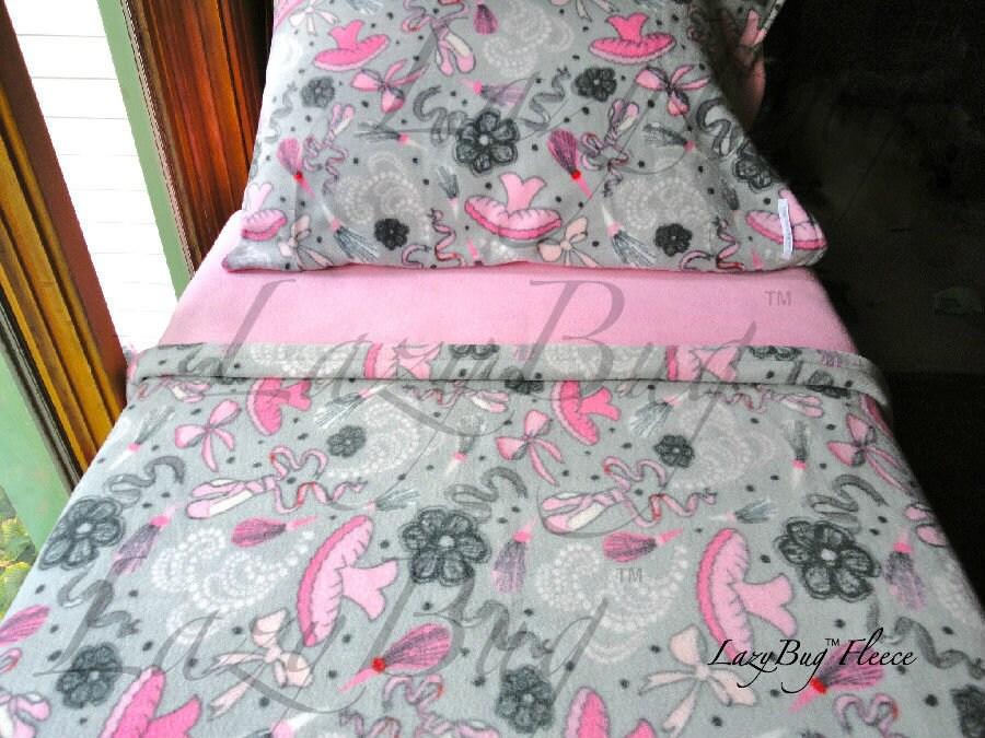 Ballerina Bedding Children's Fleece Bed Set For Girls