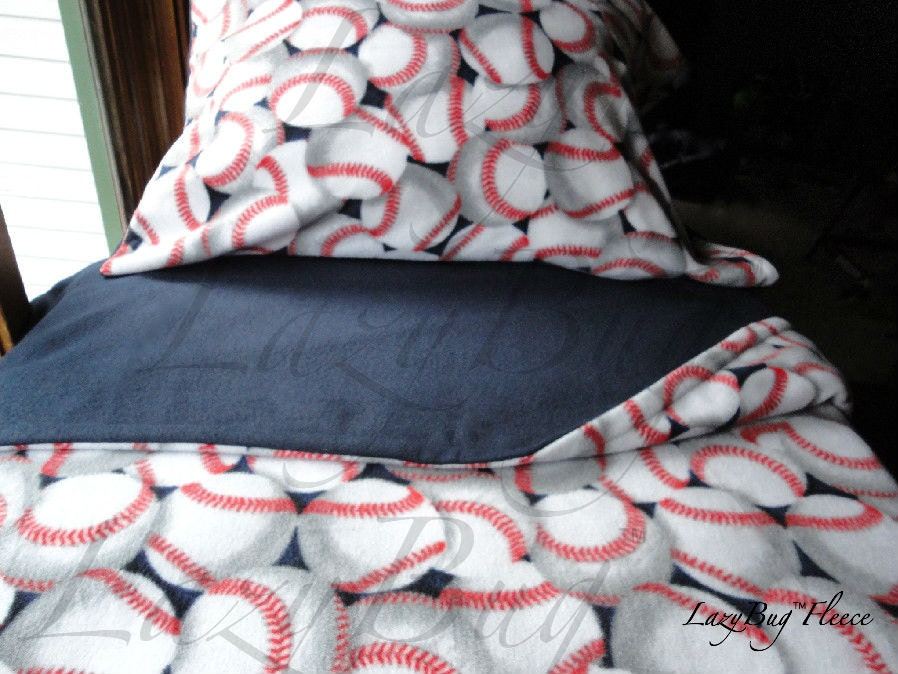 Baseball Dreams For Boys Cozy Fleece Bedding Fits Cribs