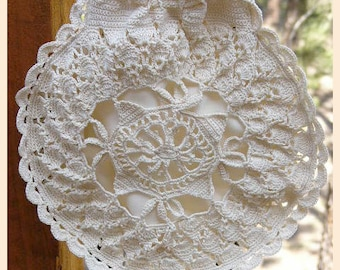 Venetian Crochet Opera Bag with Silk Lining for Prom, Weddings, Formal Parties from a 1914 Pattern
